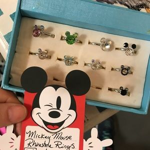 Adjustable Mickey Mouse Rhinestone Rings